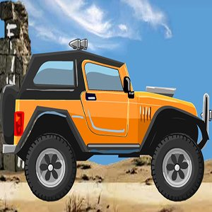 Orange Cartoon Jeep Puzzle